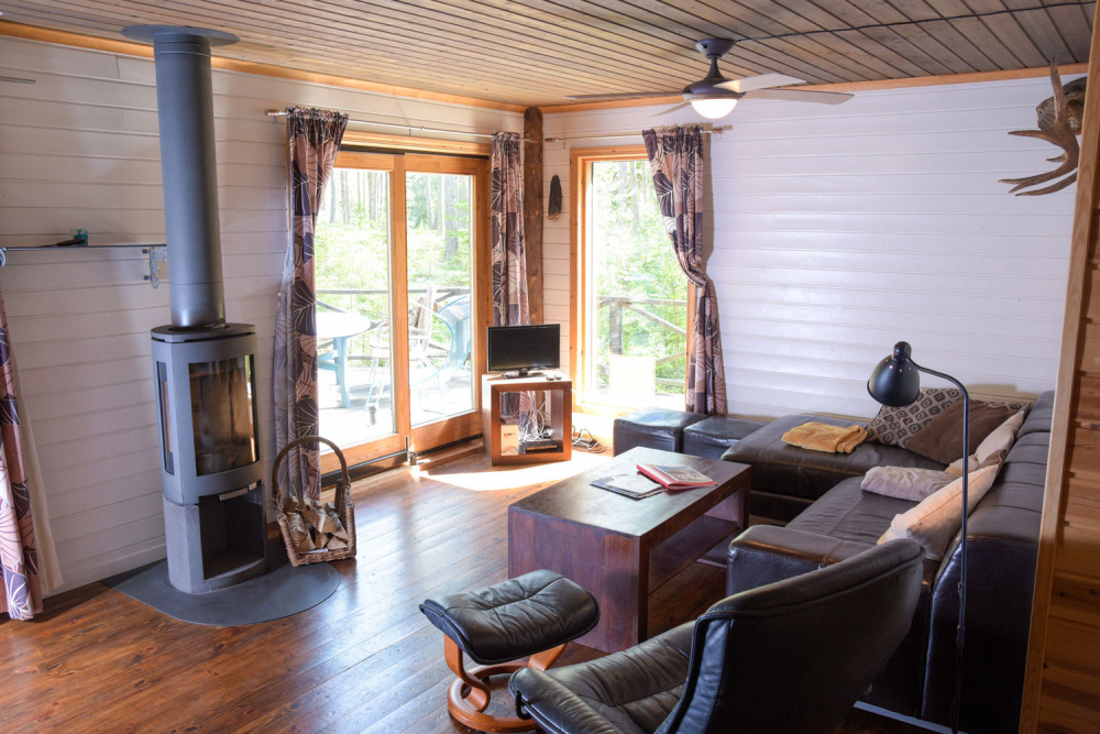 foxen-resort-wohnzimmer-kamin-fernseher-terasse-holzhaus