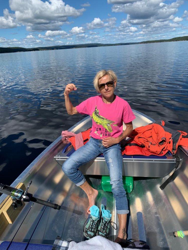 Schweden Foxen Motorboot Erkunden